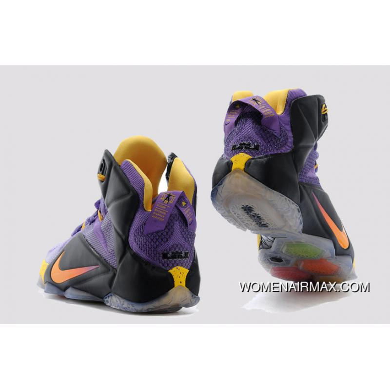 b7c44ee81985c ... Nike LeBron 12 Purple Black-Yellow Copuon ...