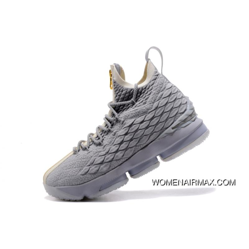 new style 77b9e dc9f8 Kith X Nike Lebron 15 Wolf Grey/Gold Men'S Basketball Shoes Best