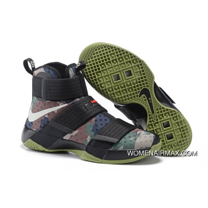 check out 24cae 0b01e Nike LeBron Soldier 10 Sfg Camo Black/Bamboo-Medium Olive Online