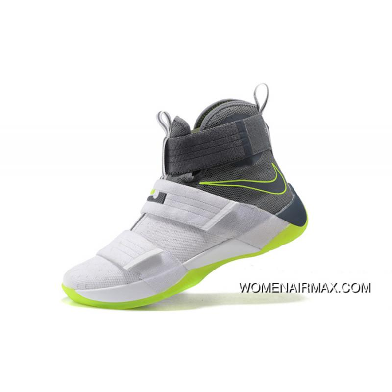 sports shoes 0d5b6 76504 Nike Zoom LeBron Soldier 10 Dunkman White/Cool Grey-Electric Green Best