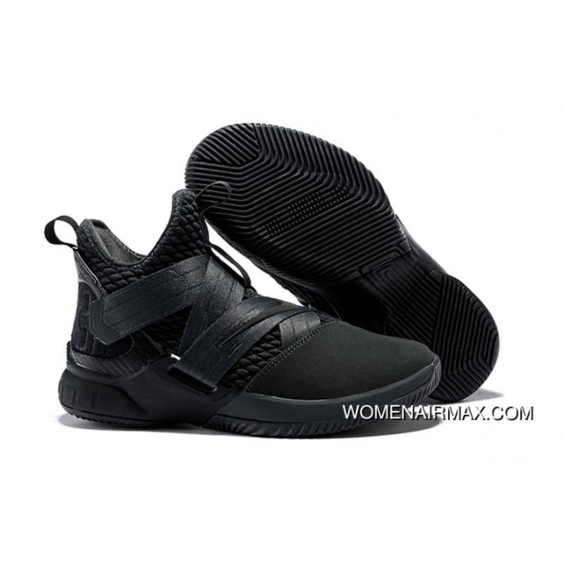 best cheap 0242b 03908 Nike Lebron Soldier 12 Black 2018 Free Shipping