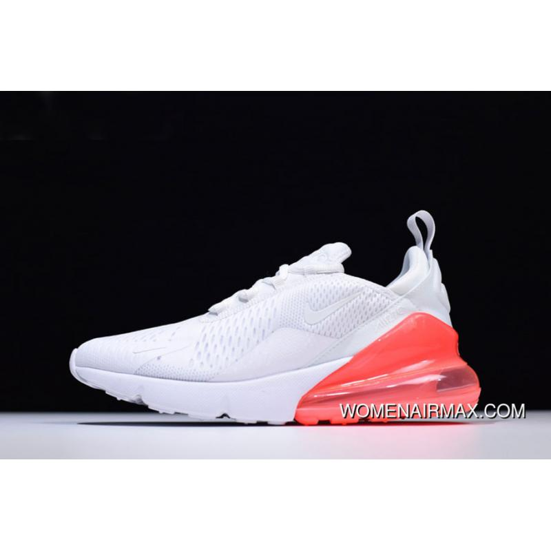 d28541f086b71 Mens And WMNS Nike Air Max 270 White Hot Punch Running Shoes AH8050 ...