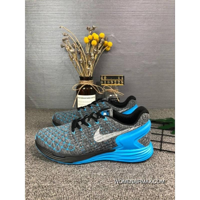 sports shoes e5467 bafa6 110Nike Men Shoes LunarGLIDE 6 FLYKNIT Sport Shoes FLYKNIT Light Breathable  Running Shoes Size Code 0109229 Latest