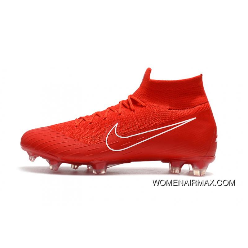 save off 35381 7afb5 Arrived The Nike Mercurial 2.0 Red White Knitting Flyknit 360 Technology  Waterproof FG Nail Soccer Shoes Mercurial Superfly VI 360 Elite FG New ...