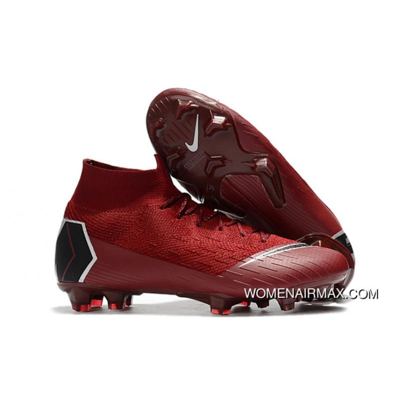 cheap for discount bcc87 060c0 Arrived The Nike Mercurial 2.0 Wine Red Knitting Flyknit 360 Technology  Waterproof FG Nail Soccer Shoes Mercurial Superfly VI 360 Elite FG New Style