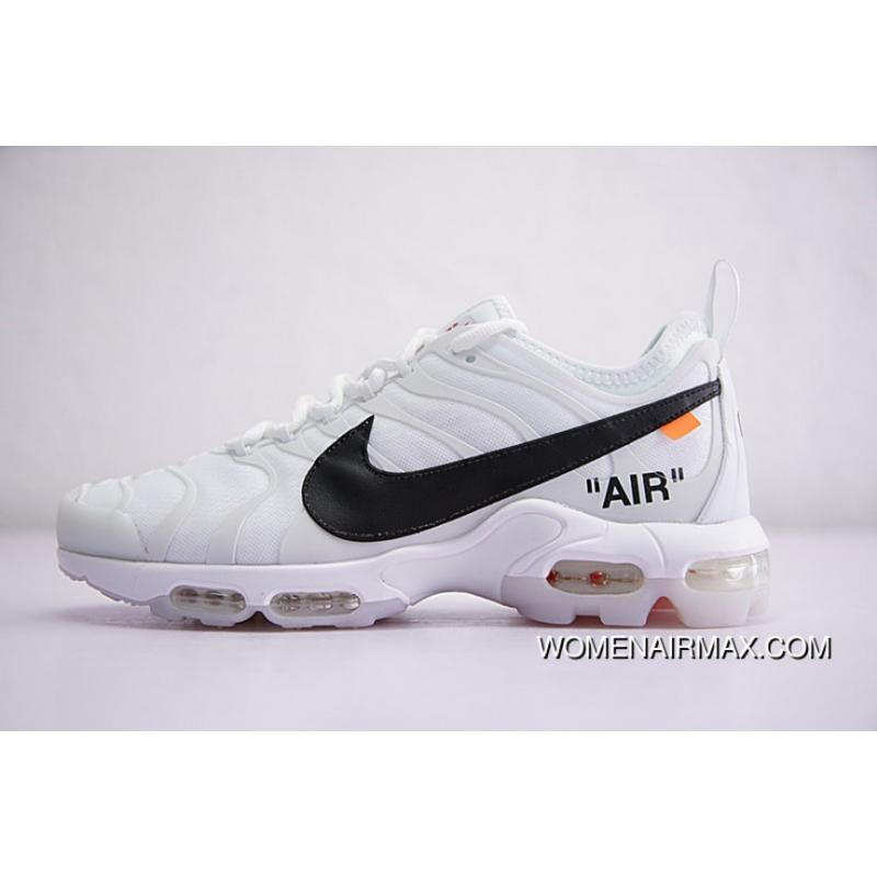 the latest 6260d 7a3e0 Virgil Abloh Designer Independent Brand Off-White Nike Air Max Plus X TN  Ultra Set Foot Zoom Retro Jogging Shoes White Black Orange AA3827-100 New  ...