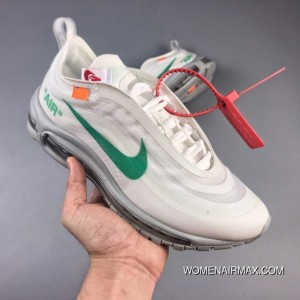 finest selection 510c2 75d45 OFF-WHITE X Nike Air Max 97 Menta Retro All-match Jogging Shoes Mint Lake  Blue AJ4585-001 18 New Color Virgil Abloh Designer Super Limited New Style