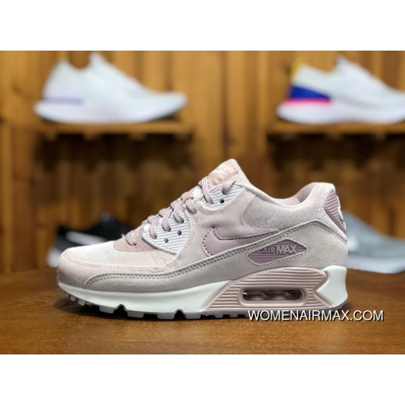 free shipping a6458 b60db 170 Nike AIR MAX 90 LX Zoom Women Shoes Cherry Blossom Put Sakura Pink  Velvet Height-happens Running Shoes Size 898512-600 Free Shipping