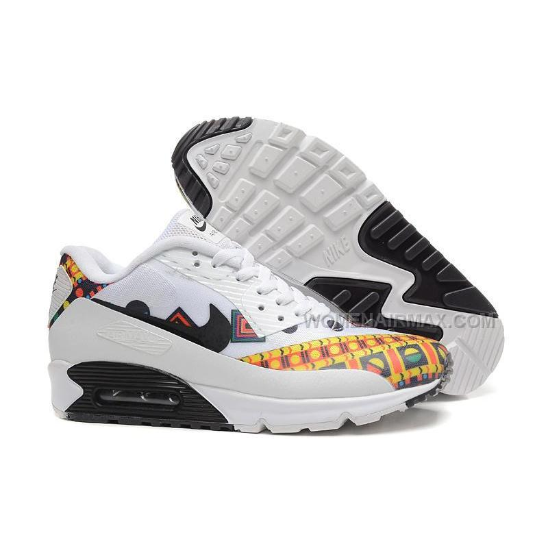 2688eef1b1 ... Nike Air Max 90 Hyp Prm 2015 Dragon White Black Yellow Womens Shoes  Outlet ...
