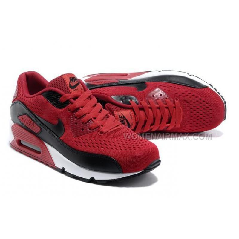 newest collection 41dd8 e451a Air Max 90 Premium EM Womens Shoes New Red Black