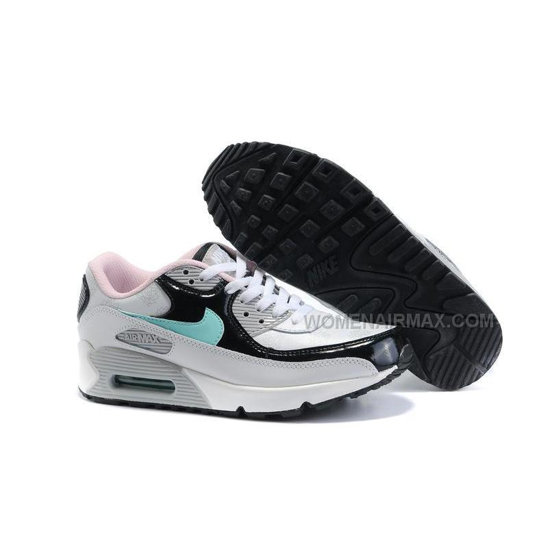 more photos 8b0c4 95c9c Nike Air Max 90 Womens Shoes Wholesale White Black Gray Blue ...