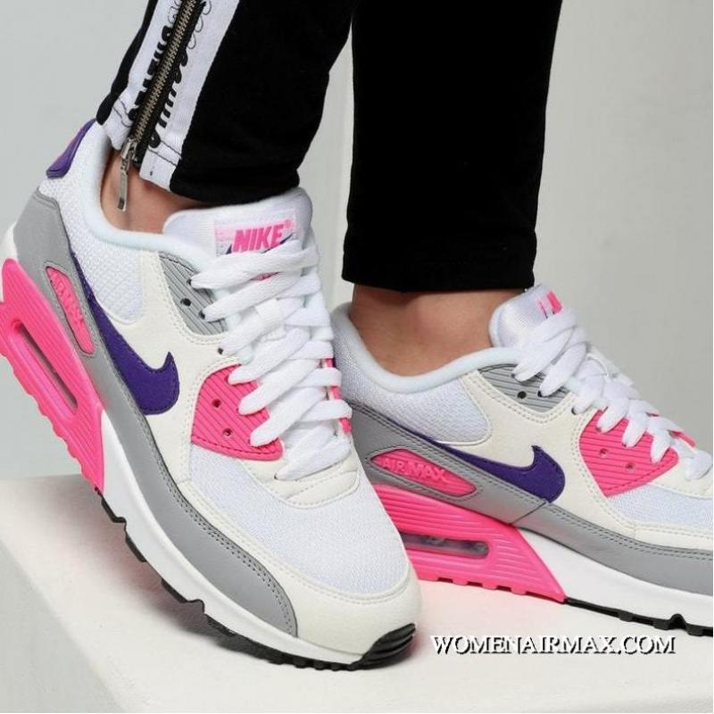 online store 196a8 c6715 Women Shoes Nike Air Max 90 Laser Pink OG Retro Zoom All-Match Jogging  Shoes White Shallow Grey Purple Lan Pink 325213-136 For Sale