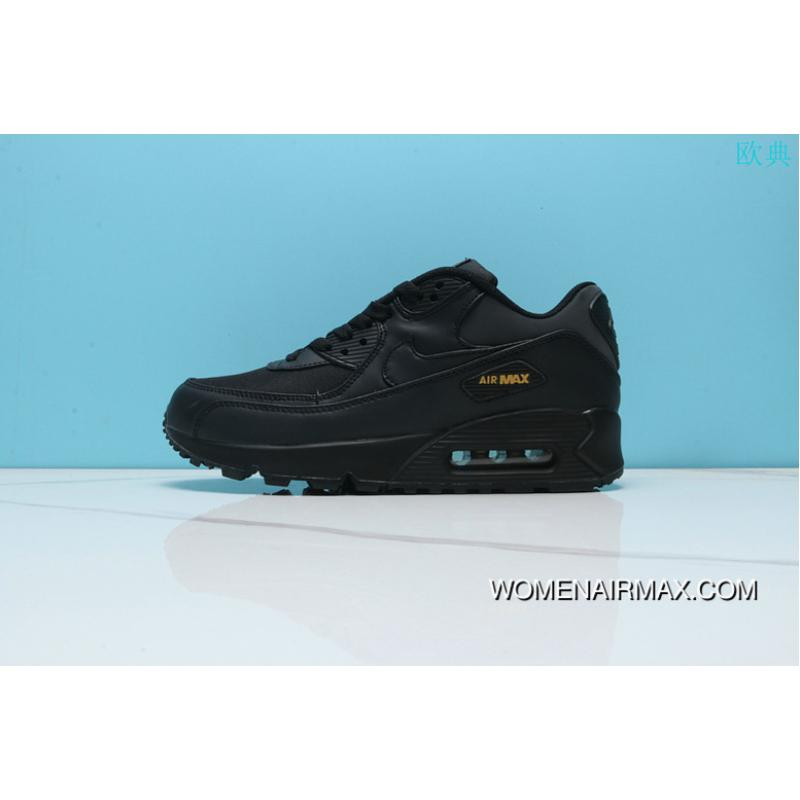 7f5c4c2a993e USD  87.85  237.18. Nike Air Max 90 Men Sport Shoes Black Gold Men Women  Shoes 302519-001 ...