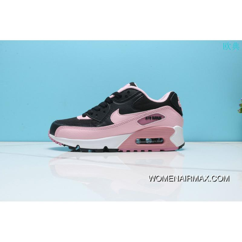 best service 959f3 dc3be Nike Air Max90 Women Zoom Cushioning Sport Casual Black Pink Color Running  Shoes 325213-059 Online