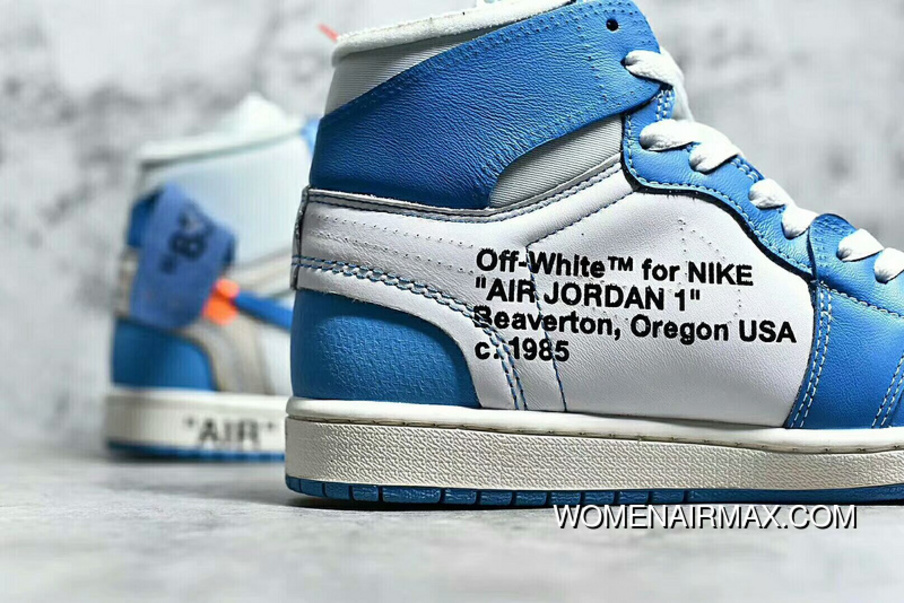 f99d67f3c3cc49 North Carolina Blue Air Jordan 1 OFF-WHITE SKU AQ0818-148 Discount ...