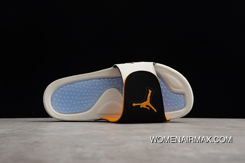 56745d308 P8 Air Jordan Hydro AJ5 Velcro Slides White Black Yellow Men Shoes 555501-118  Copuon
