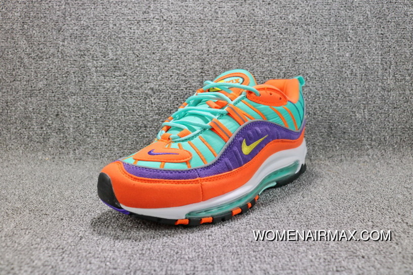 meet 252e7 7e651 Nike Air Max 98 QS Vibrant Air Retro Sport Zoom Running Shoes And Colorful  Men Shoes 924462-800 Free Shipping