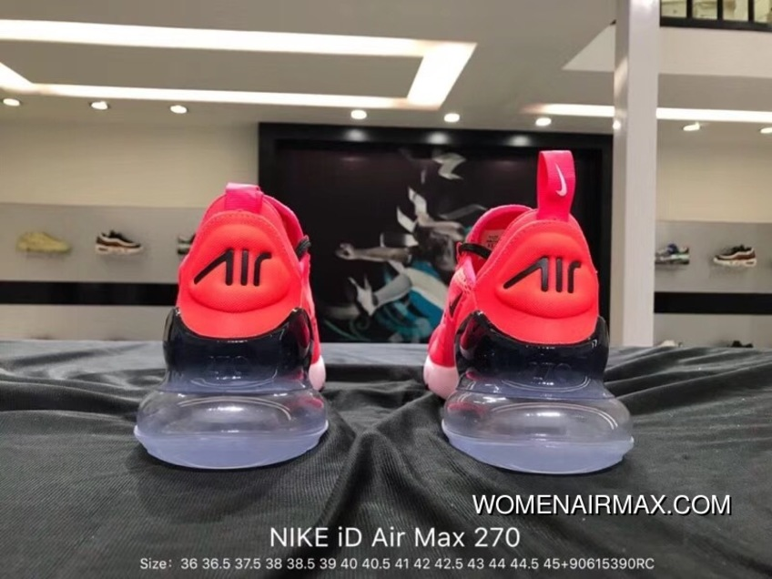 Nike Air Max 270 Series ID Heel Half palm As Jogging ShoesMoves You Mobile Neon Pink Black BQ0742 996 Size New Release