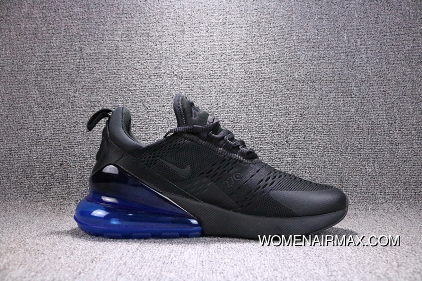 959b565cdc7797 Nike Air Max 270 Black Navy Blue AH8050-009 270 Breathable Running Shoes  New Release