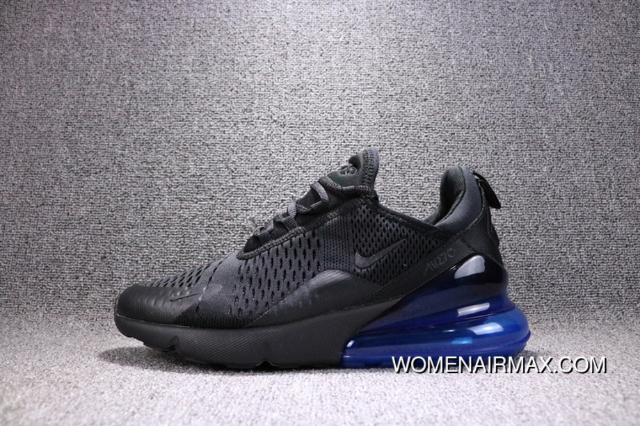 promo code 634f2 8771d Nike Air Max 270 Black Navy Blue AH8050-009 270 Breathable Running Shoes  New Release