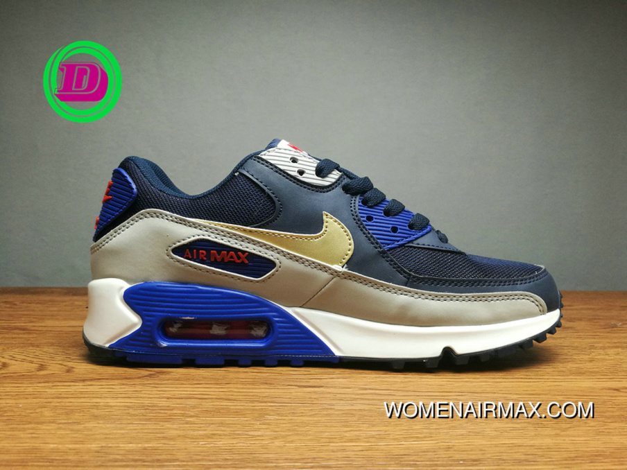 the latest f66bb cbc13 Grey Black Gold Hook Running Shoes Nike Air Max 90 Women Shoes And Men  Shoes Sport Shoes 537384-409 Copuon