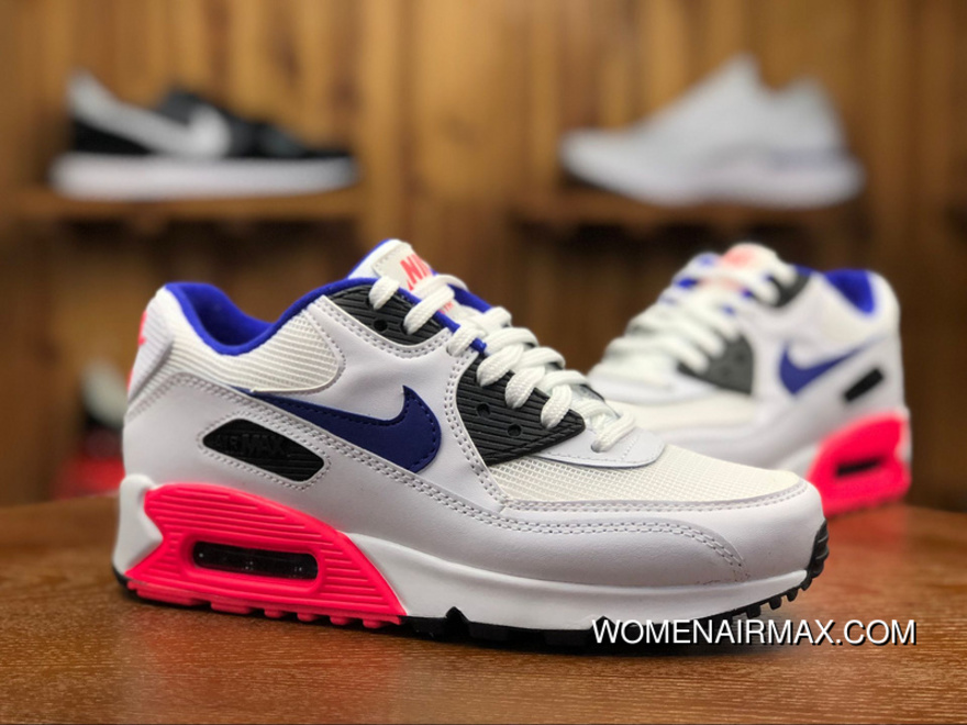 Nike AIR MAX 90 ESSENTIAL Women And Men Sport Casual Running Shoes 537384 136 Size Best