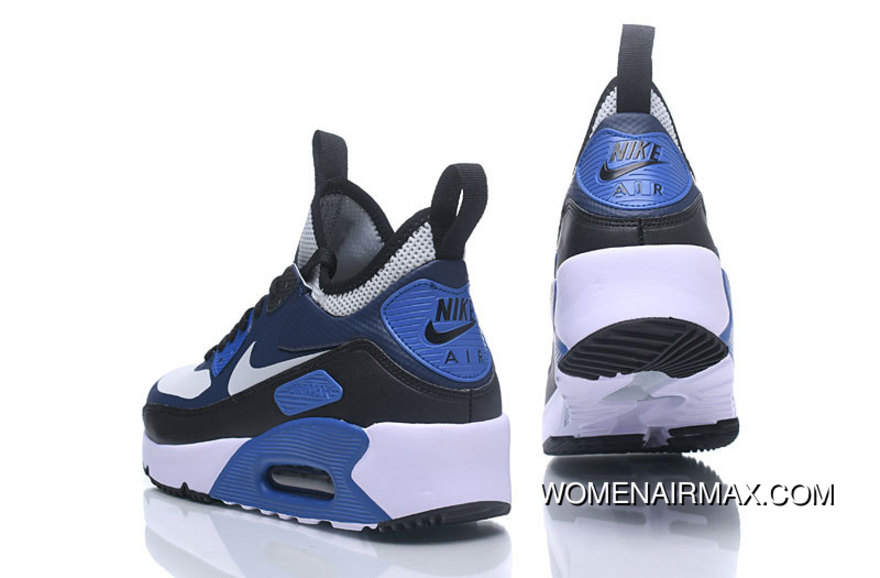 timeless design 6a6fa 959d0 Nike AIR MAX 90 NS GPX Casual Mid Top Men Shoes White And Black Navy Blue