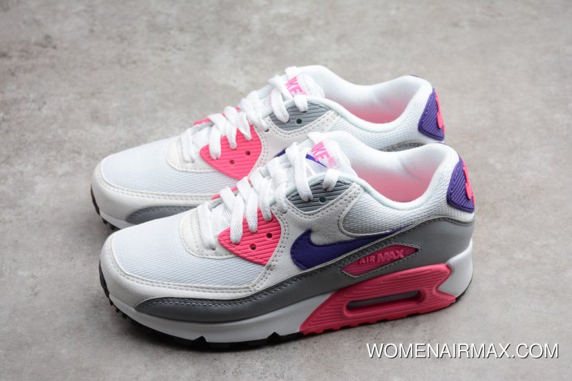best service 18620 0a6ec Wmns Nike Max 90 Essential  Laser Pink  White Court Purple-Wolf Grey. Tags  Nike  Air ...