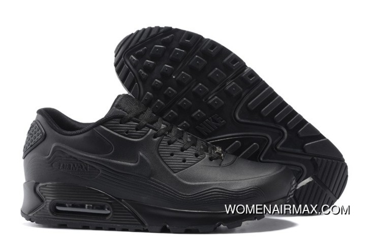 detailed look 7907f 676a7 For Sale Regression Texture Nike Air Max 90 Mens Shoes All Black Free Shi
