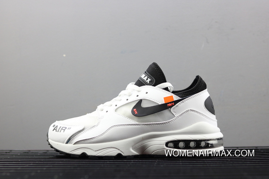 f6349064b OFF-WHITE X Off Nike Air Max 93 OG Collaboration Publishing Zoom Running  Shoes AJ3061