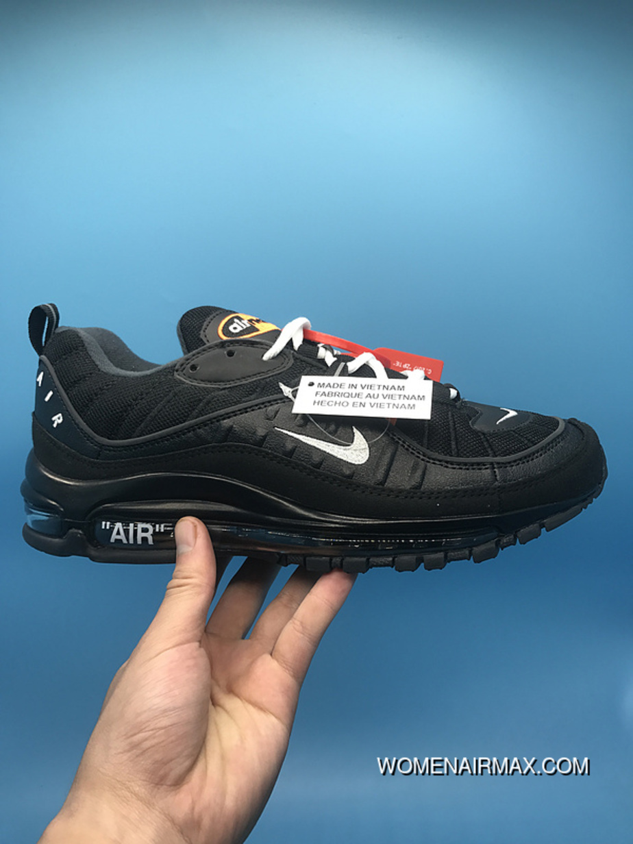 outlet store c866b 69048 Nike Air Max 98 Off-White Collaboration Series Black For Sale