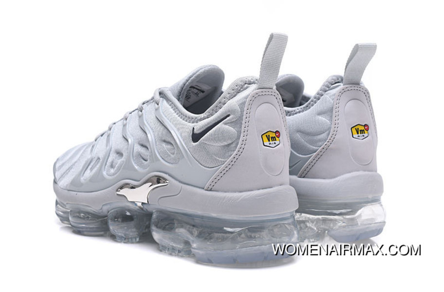 the best attitude f7a9e 6911f 2018 Nike Air Vapormax Plus Triple Grey Online