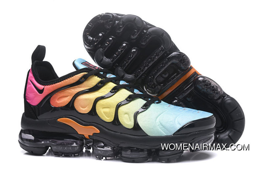 f9962aae4c6 Mens Nike Air Vapormax Plus Tropical Sunset Black Bleached Aqua New Style