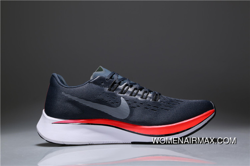 7158c4d7315be Nike Zoom Vaporfly 4% Blue Fox Grey Red 880847-400 Latest
