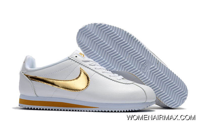 newest c36f8 78b51 Nike Cortez Leather White Gold Latest