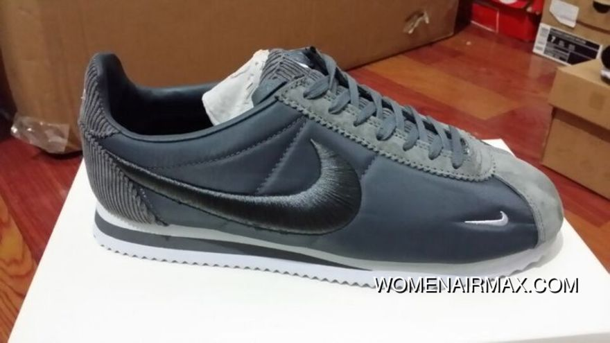 official photos 6e32f dcfa4 Nike Cortez Knit Embroidery Silver Grey Discount