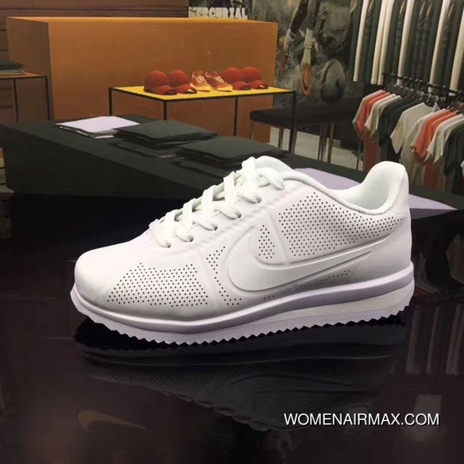 sports shoes c1ae4 49732 All White Cortez 3 Nike Cortez 3 Full Carving HEAT SEAL Cortez Retro Three  Layers Combine Classic Cortez Leather Best, Price   77.55 - Women Air Max -  Nike ...
