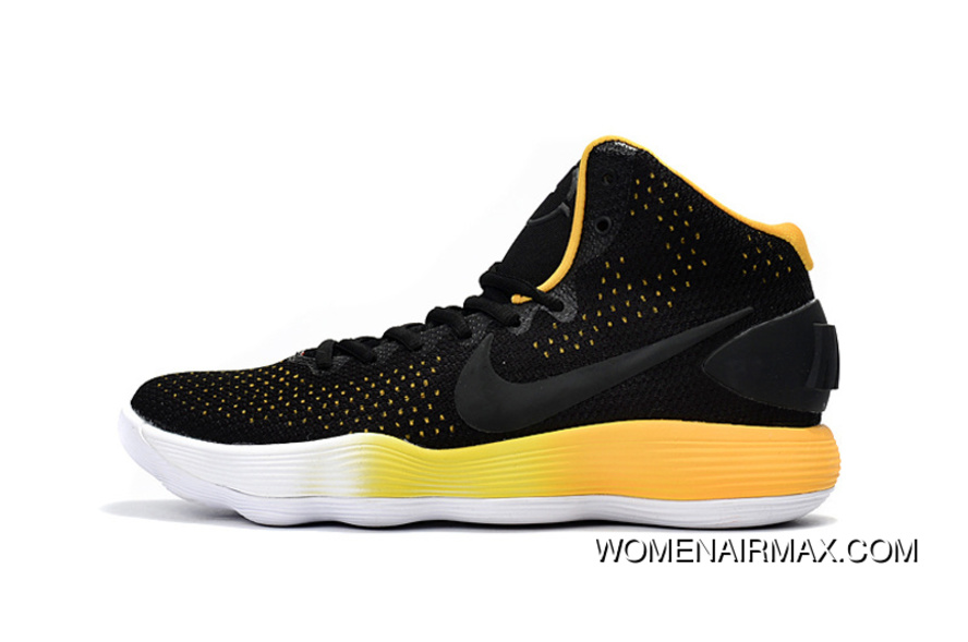 new products 8b064 55b92 Nike Hyperdunk 2017 Black Yellow With Gradient Midsoles New Year Deals