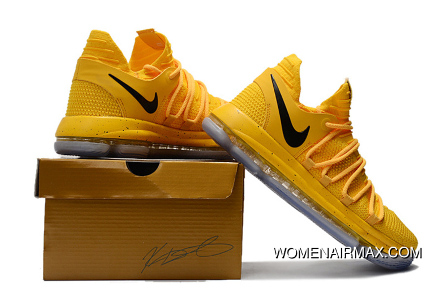 save off e01fd 97153 Nike Kd 10 Yellow Black New Year Deals