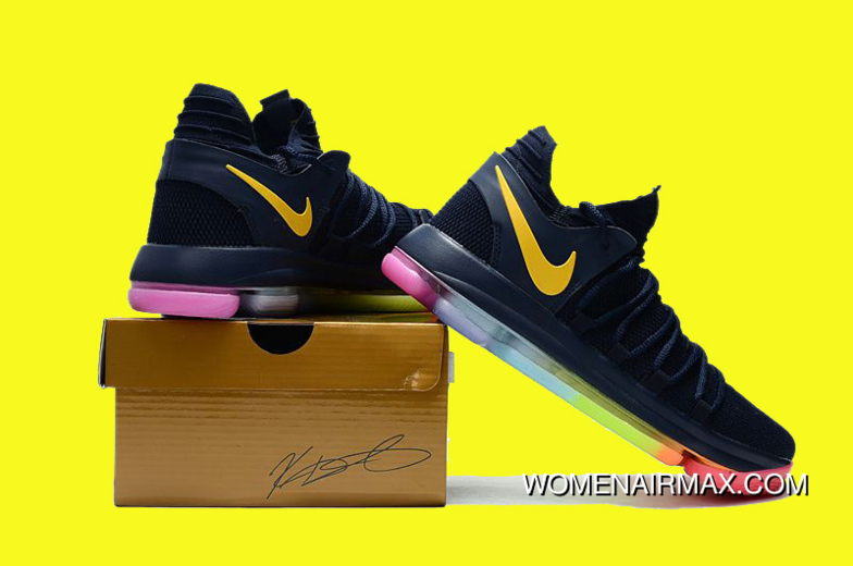 superior quality f2ff9 f0cc4 New Nike Kd 10 Be True Black/Yellow Colorful Best