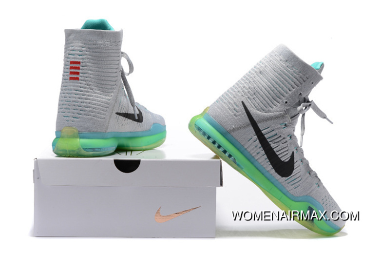 new concept e343b 8bb2d Nike Kobe 10 High Woven Grey Green New Style