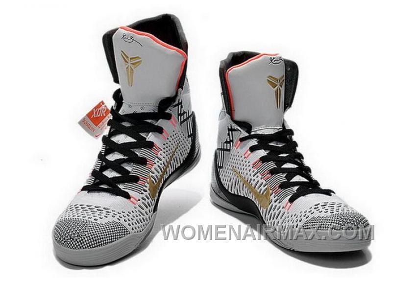 low priced 3d31b b252a Buy Cheap Nike Kobe 9 2014 High Top White Black Gold Mens Shoes Copuon Code  NSr57xy