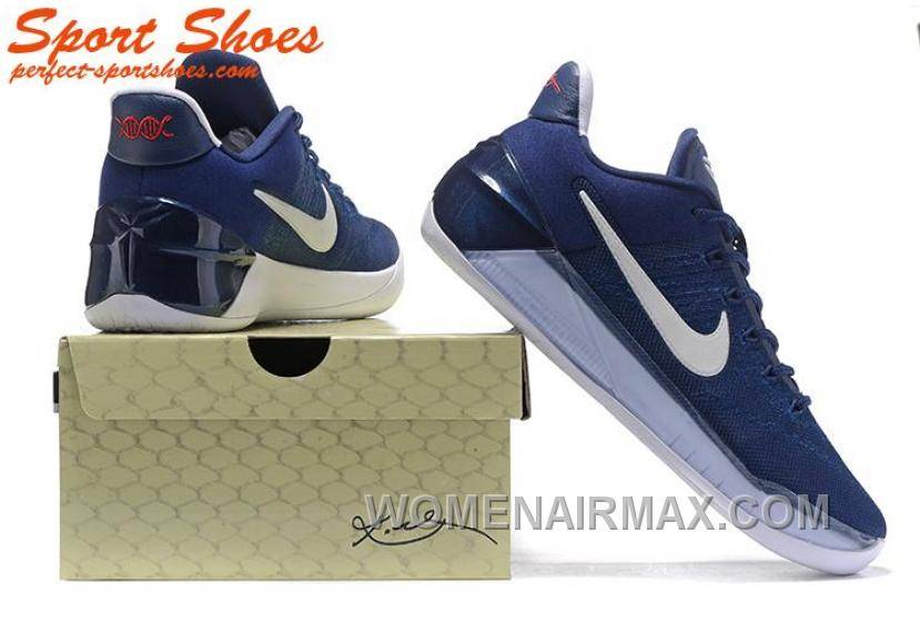 low priced e2c1a 7531b Nike Kobe A.D. Sneakers For Men Low Navy Blue White New Style PRmSp