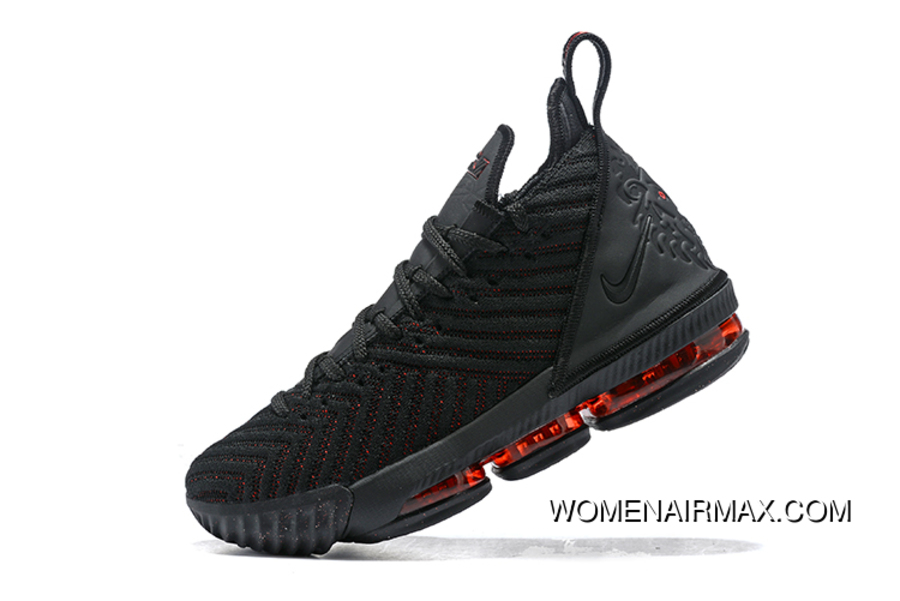 the latest f5de1 feb14 Nike Lebron 16 'Bred' Black Red Basketball Shoes New Release