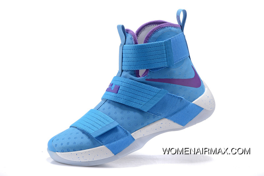 check out 3dbdf 27755 Nike Zoom LeBron Soldier 10 Blue Purple White New Year Deals