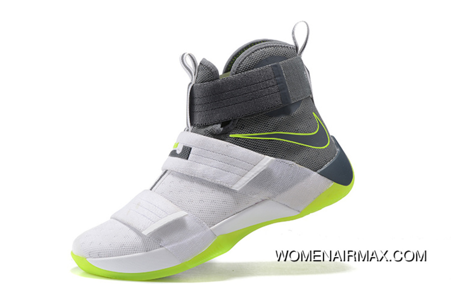 sports shoes 71118 8c2b4 Nike Zoom LeBron Soldier 10 Dunkman White/Cool Grey-Electric Green Best