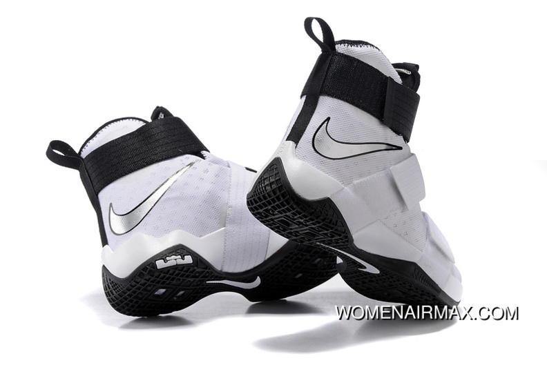 official photos dc788 fc284 Nike Zoom LeBron Soldier 10 White-Black/Metallic Silver For Sale