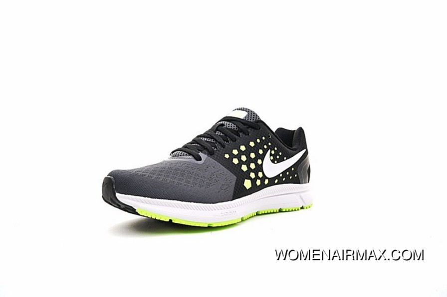 Nike Air Zoom Span Shield Mens Running Shoes Carbon GreyGreen 852437 007 New Year Deals