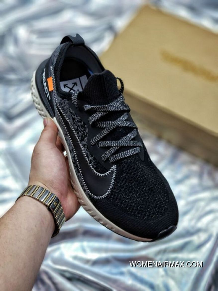 ff437d9f0e7d Creative Collaboration OFF-White X Nike Epic React Flyknit React  Collaboration React Big Hook With