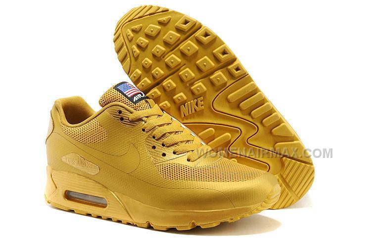 los angeles 31873 c95ed Nike Air Max 90 Flag Usa Womens Shoes All Gold Lovers Shoes Discounts